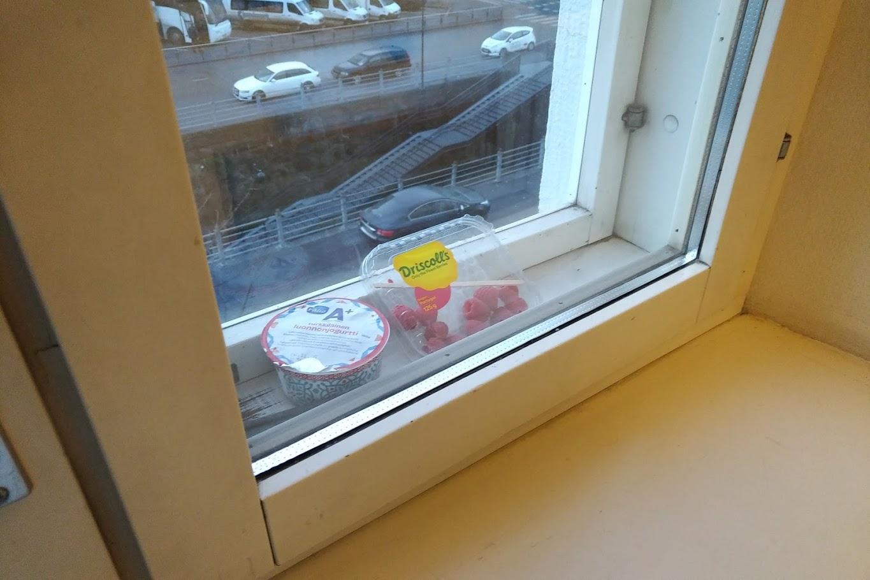 フィンランドの窓を冷蔵庫代わりに
