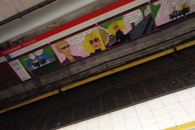 ヘルシンキの地下鉄漫画