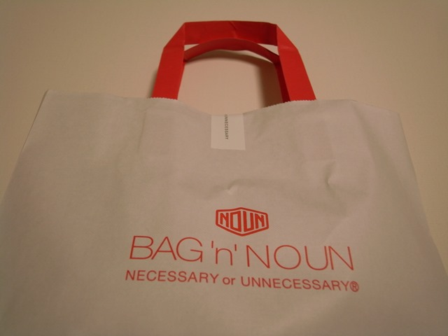 バッグンナウンショップ袋紙袋赤