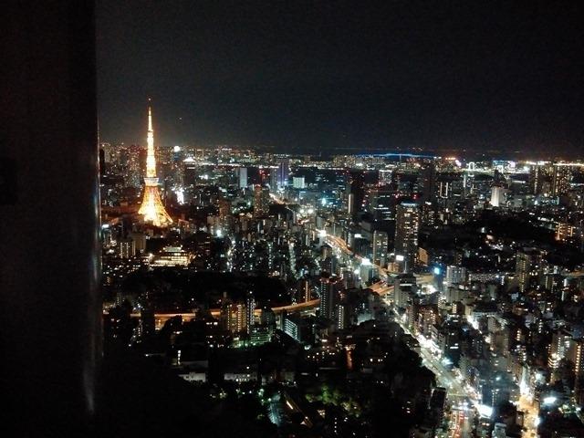 東京タワー六本木ヒルズの夜景