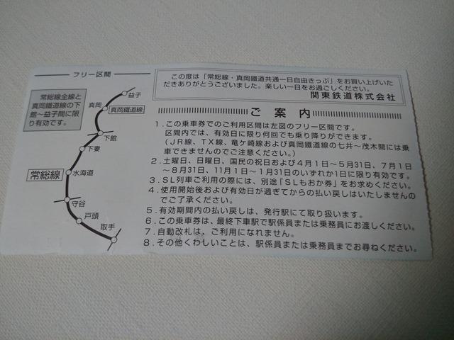 常総線・真岡鐵道線共通一日自由きっぷ