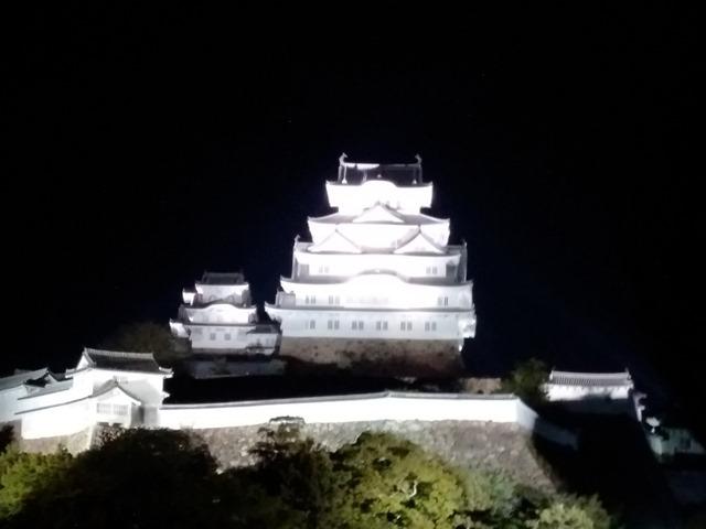 姫路城夜ライトアップ