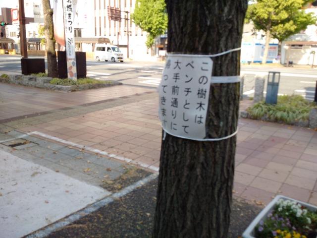 姫路街路樹ベンチ切断