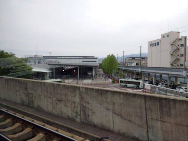 京都鉄道博物館車内から見えたJR