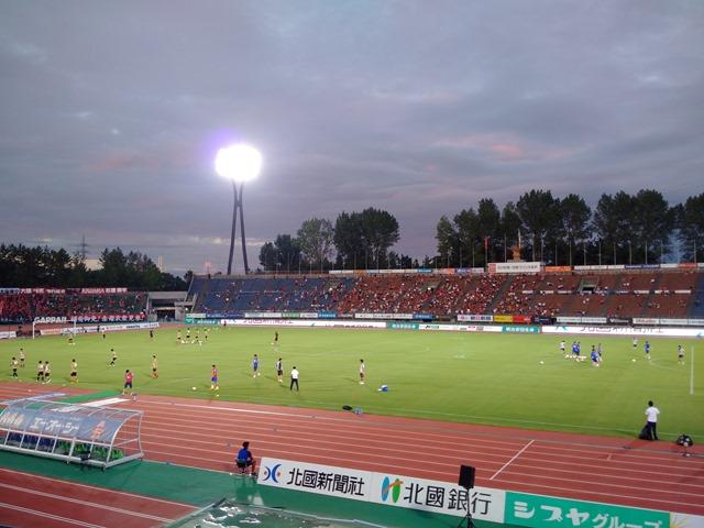 石川県西部緑地公園陸上競技場ツエーゲン金沢感想