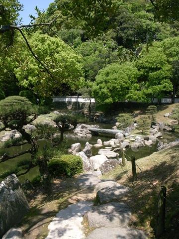 徳島城博物館庭