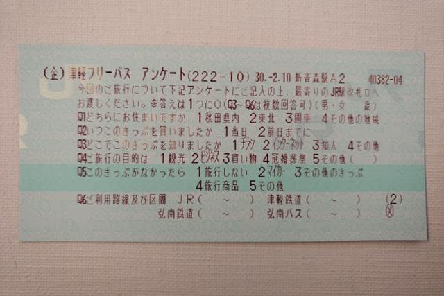 津軽フリーパスアンケート