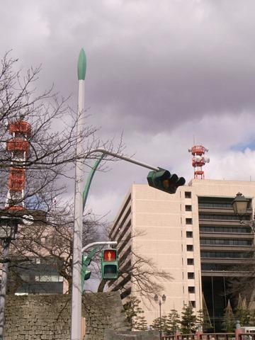 福井信号機緑