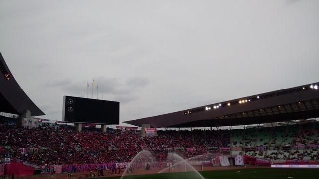 ヤンマースタジアムホーム側セレッソ大阪