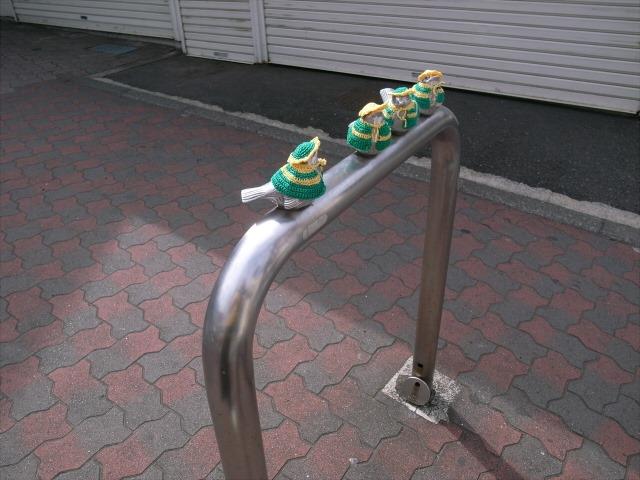 江ノ電の小鳥の柵