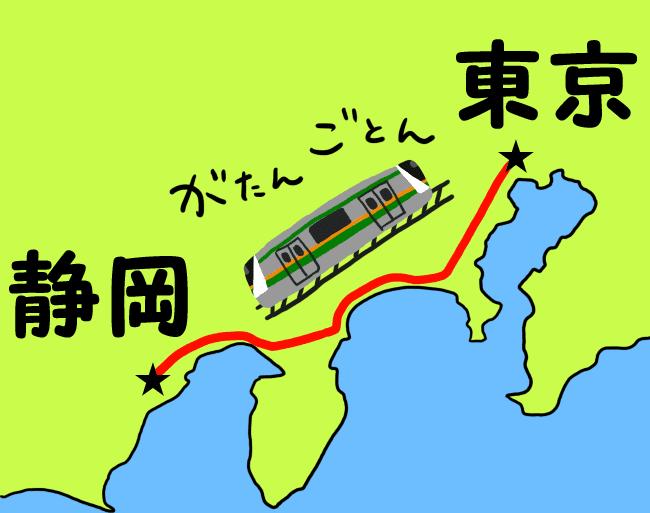 在来線で静岡へ