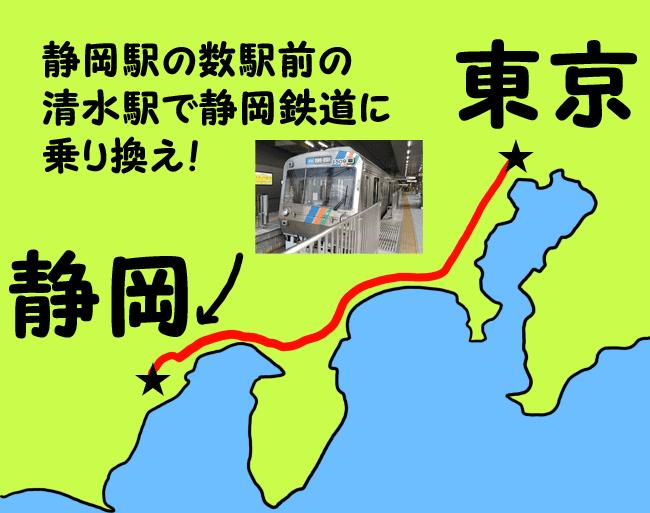 静岡鉄道で静岡へ