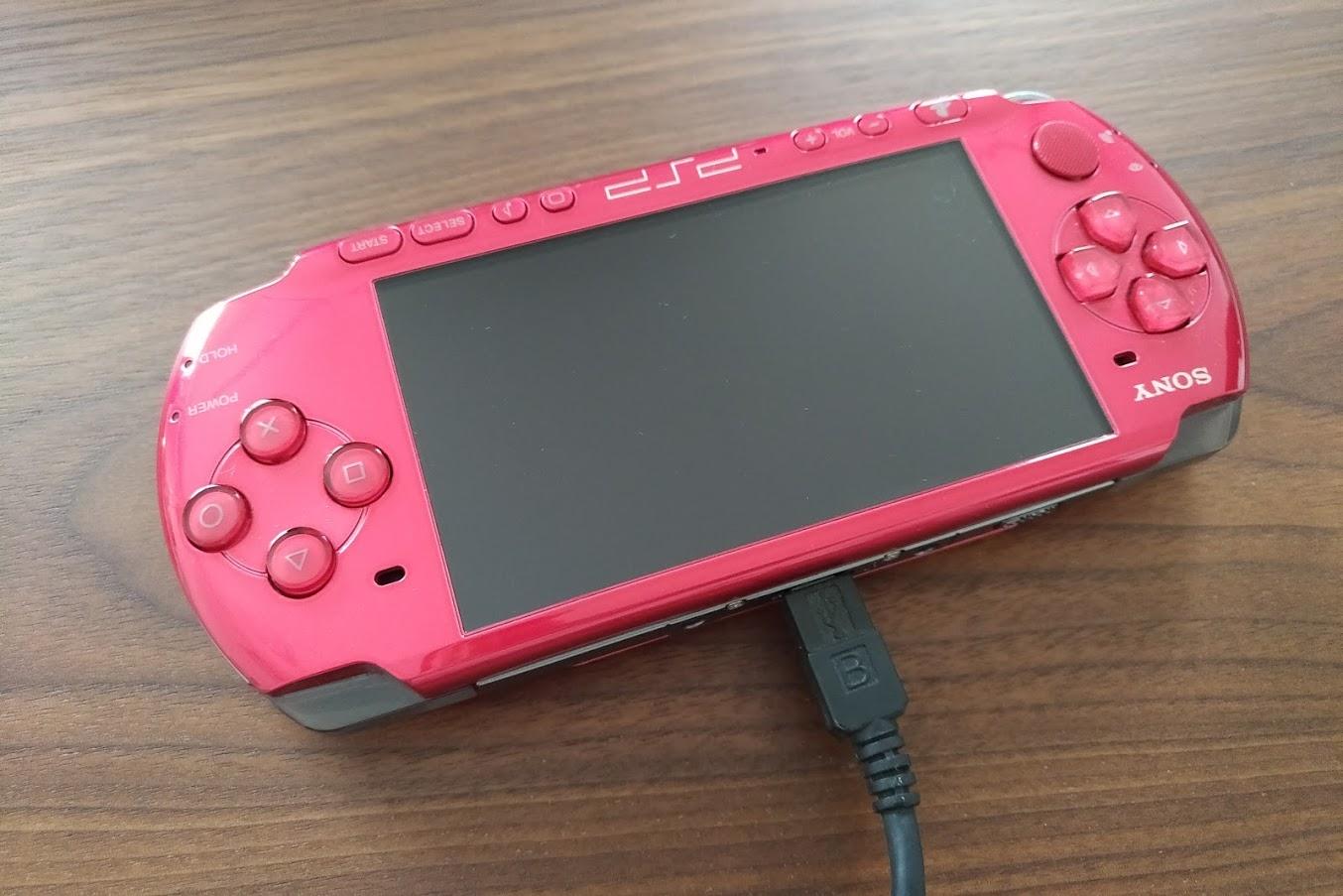 PSPをUSBで接続する