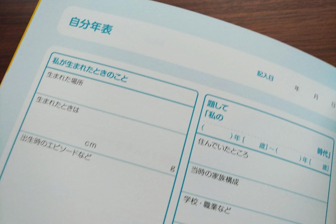 エンディングノート自分年表