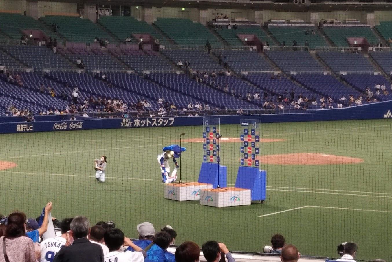 インタビュー台ナゴヤドーム