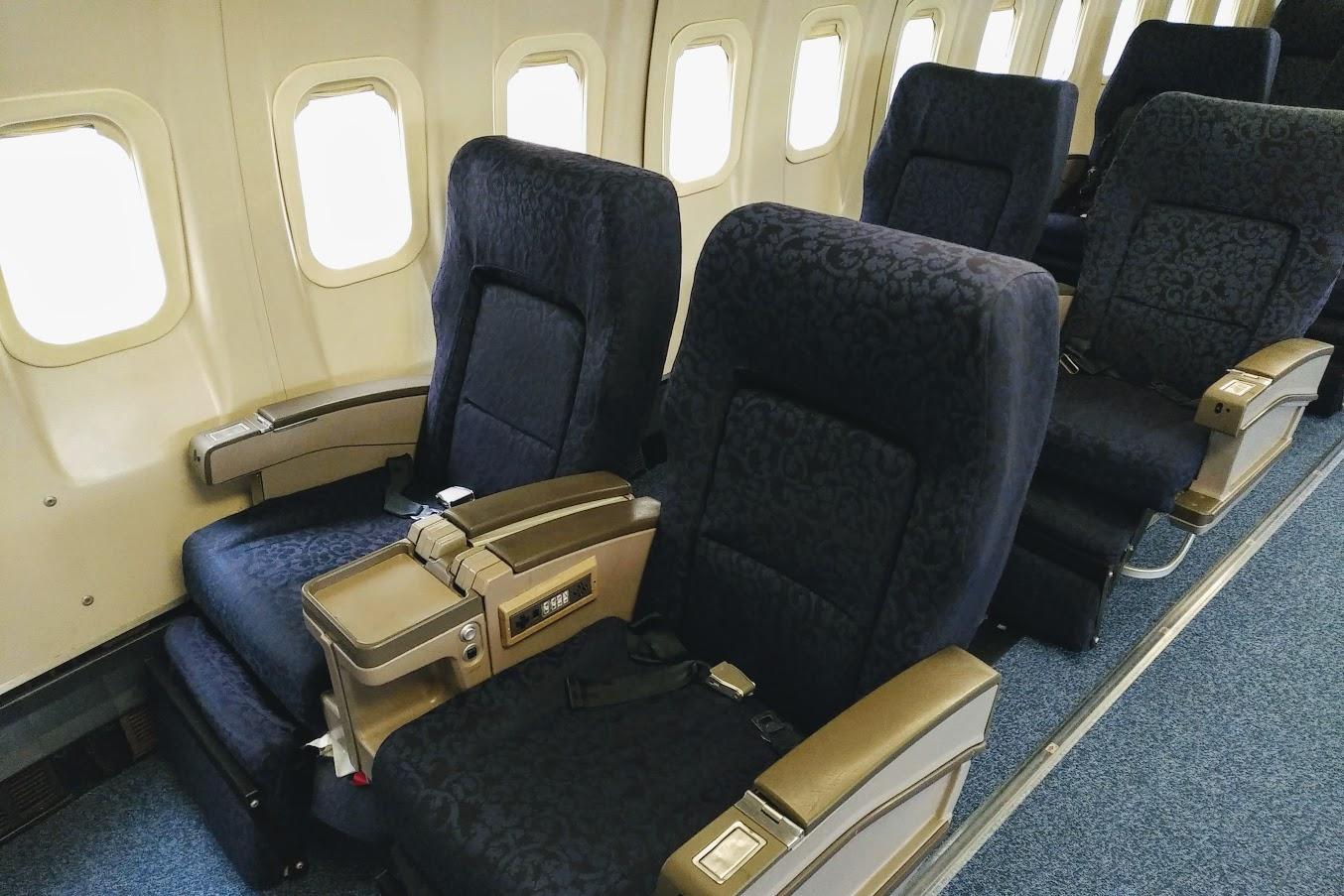 ボーイング747座席