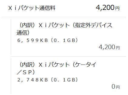 Xiパケット(指定外デバイス通信)