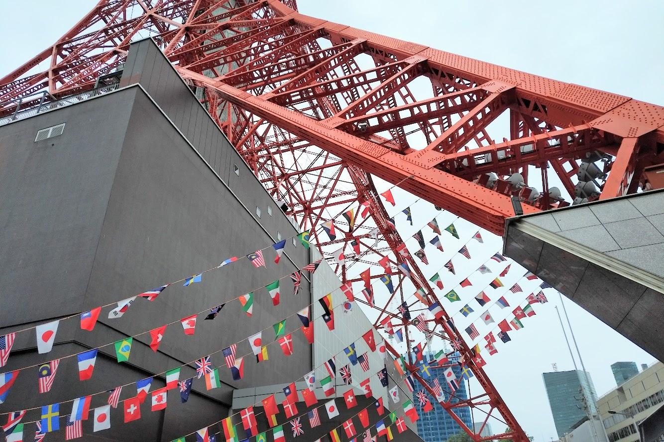 東京タワー国旗